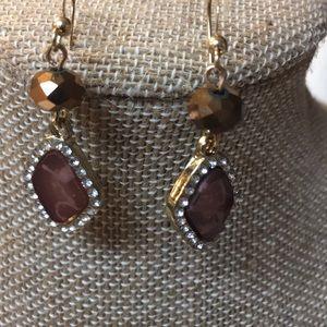 Jewelry - Gold-tone dangling earrings